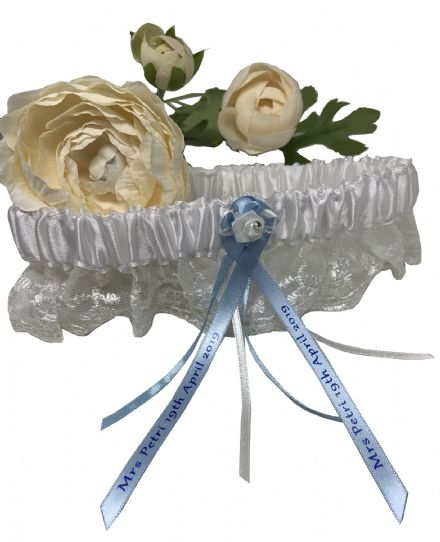 Bridal Lace Wedding Garter, Personalised Free